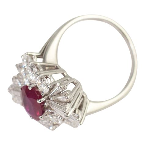 ruby  diamond cocktail ring sold plaza jewellery