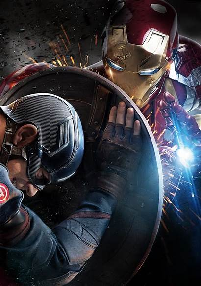 America Captain Civil War Iron Movies Pantalla