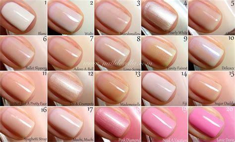 essie nail color essie color guide 1 100 nailderella