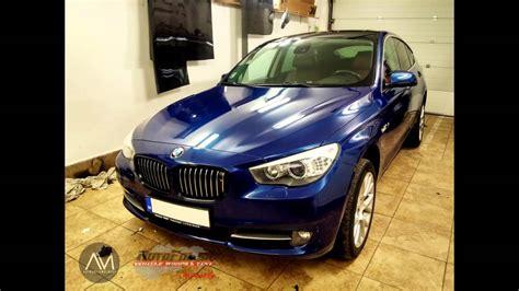 bmw  gt  blue metallic car wrap youtube