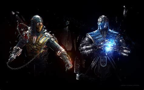 Wallpaper SubZero, Scorpion, Mortal Kombat, Artwork