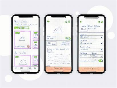 Wireframe Example Application Examples Mobile App Dublin
