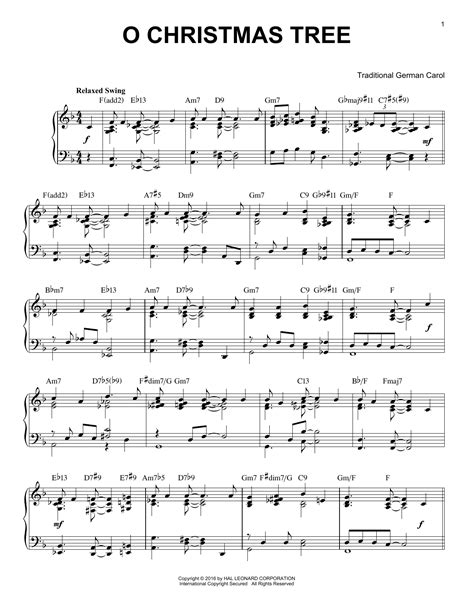 traditional german carol o christmas tree sheet music