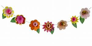 Fancy Flowers Garland - Flower Themed Party Decorations