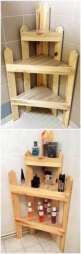 Pallet Bathroom Shelf Pictures
