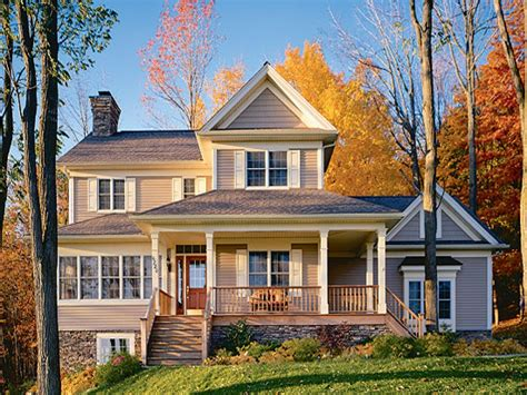 Country House Plans  Open Floor Plan Country House