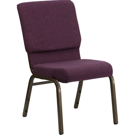 Hercules Stackable Church Chairs by Hercules Series 18 5 Quot W Plum Fabric Stacking Church Chair