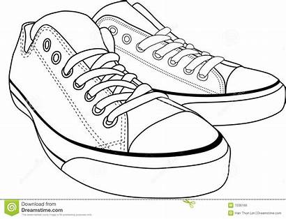 Clipart Shoes Tennis Canvas Sneakers Clip Cliparts