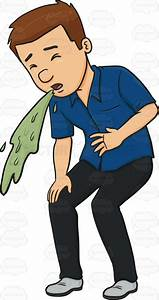 Man In A Blue Shirt Vomiting  Adult  Adultmale  Barf