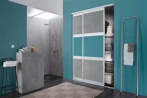 Porte Coulissante Salle De Bain : kazed portes de placard coulissantes karma 2 m lamin s ~ Mglfilm.com Idées de Décoration