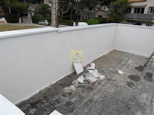 Terrasse Avec Muret : pose de couvertine alu var sur muret d 39 un coutour de ~ Premium-room.com Idées de Décoration