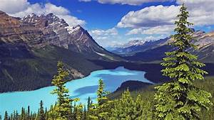 Banff, National, Park, Canada, Moraine, Lake, Landscape, Blue