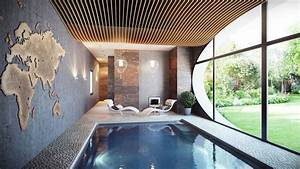 Indoor swimming pool interior design ideas for Interior design bedroom with pool