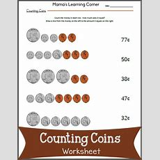 Counting Coins Worksheet  Mamas Learning Corner