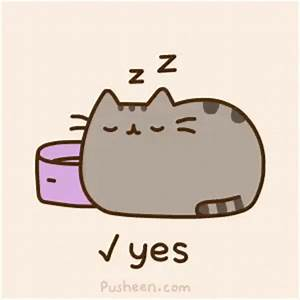 Pusheen Sleep GIF - Pusheen Sleep Cat - Discover & Share GIFs