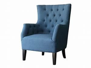 Fauteuil Bleu Scandinave : fauteuil scandinave tissu duchesse bleu roi 83705 83709 ~ Teatrodelosmanantiales.com Idées de Décoration