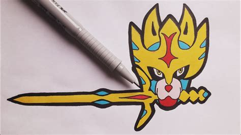 These pokémon are shrouded in mystery and are. Comment dessiner Zacian! (Pokemon épée et bouclier) - YouTube