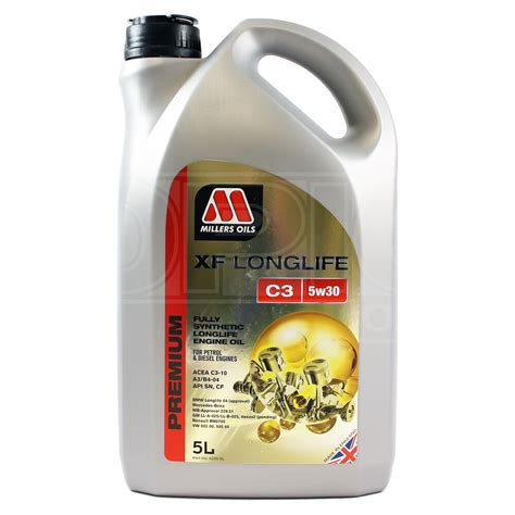 motoröl 5w30 longlife millers oils xf longlife c3 5w 30 fully synthetic 5w30 engine 5 litres 5l ebay
