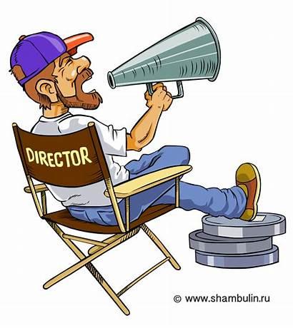 Director Clipart Producer Clip Directeur Film Cartoon