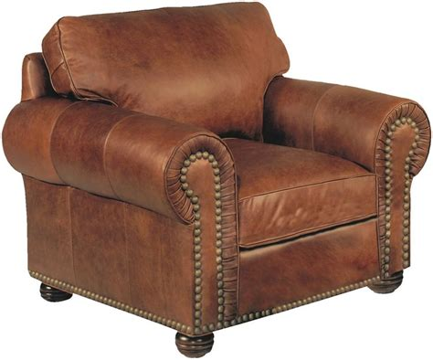 Stickley Furniture Leather Recliner by Stickley Hutchinson Leather Chair With Nailhead Trim