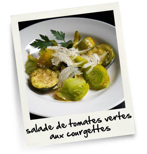 cuisine tomates vertes salade de tomates vertes aux courgettes christiane cuisine