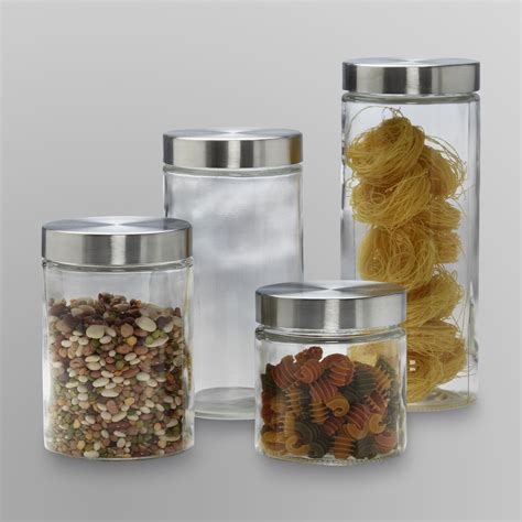 glass kitchen canister set anchor hocking 4 glass canister set