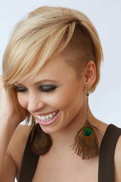 womens shaved hairstyles ideas  pinterest