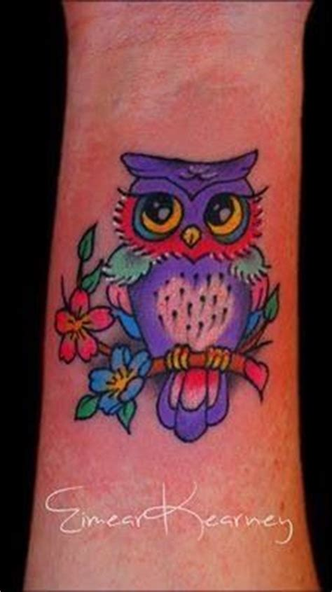colorful owl tattoo  friend tattoos pinterest