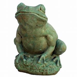 National tree company 22 in garden accents birdcage for Garden frog statue
