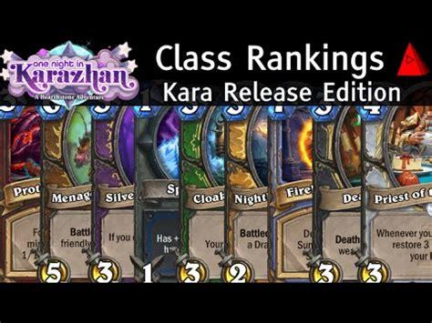 Class Tier List  August 2016 Standard Karazhan