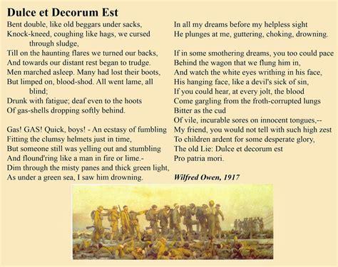 dulce et decorum est essays metaphors in essay dulce et