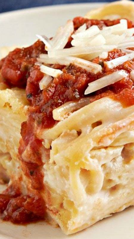 creamy baked spaghetti casserole everyday refrigerator