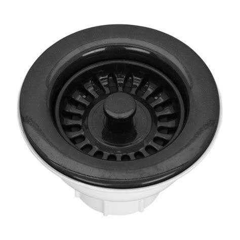 black kitchen sink strainer pegasus 3 1 2 in basket strainer drain in black bswamb 4714