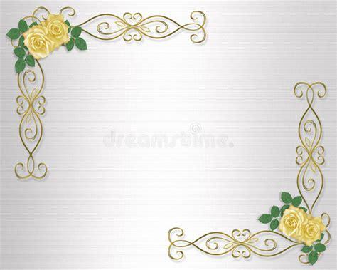 Yellow Rose And Gold Ribbon Border Stock Illustration