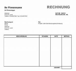 Formlose Rechnung : rechnung vorlage word office gratis download ~ Themetempest.com Abrechnung