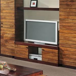 Meuble Tele Haut : meuble tv bois exotique art d co ~ Teatrodelosmanantiales.com Idées de Décoration