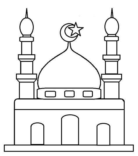 gambar masjid buat mewarnai belajarmewarnai info