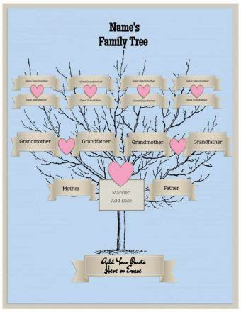 Name Template Maker by Free Family Tree Template Customize Then Print