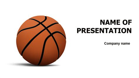 basketball template free basketball powerpoint template for presentation