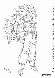 Sketch Of Goku Ssj3 Coloring Pages