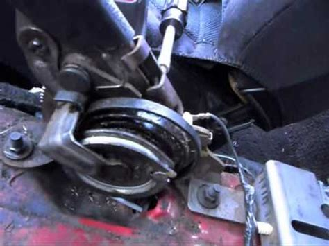 mustang emergency brake cable replacement  repair