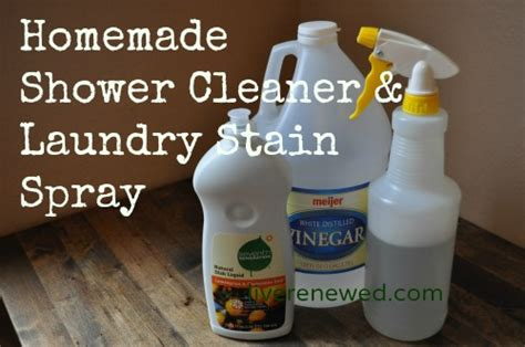 vinegar and shower green clean shower cleaner laundry stain spray