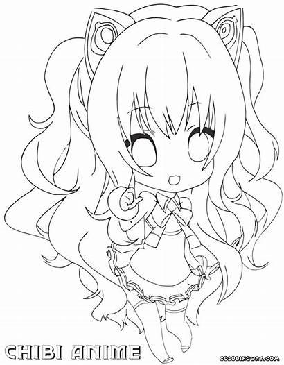 Chibi Coloring Anime Printable Manga Kawaii Bestcoloringpagesforkids