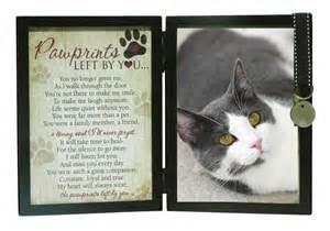 sympathy for cat loss pawprints memorial cat frame