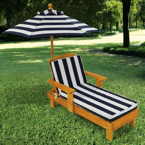 kidkraft outdoor chaise with umbrella brown