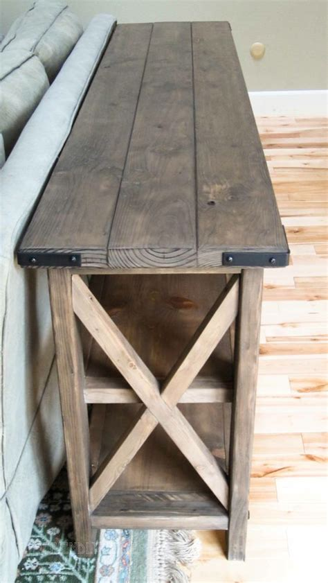 build a sofa table diy rustic console table woodworking projects plans