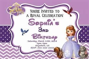 Sofia clipart invitation pencil and in color sofia for Sofia the first free invitation templates
