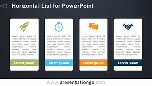 Horizontal List For Powerpoint