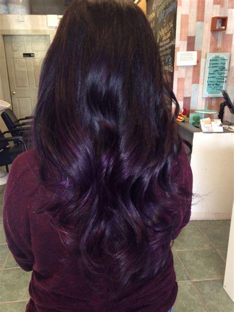 Dark Purple Ombré And Balayage Techniques Hair Hair