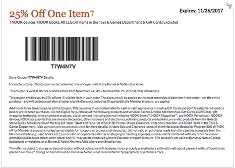 barnes and noble email coupon barnes and noble black friday coupons and discounts 2017